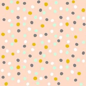 Dots on Peach