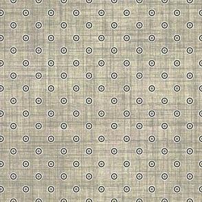 Folk Floral gray dots