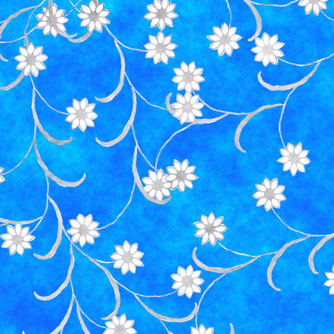 Folk Floral Garlands fabric by joanmclemore on Spoonflower - custom fabric