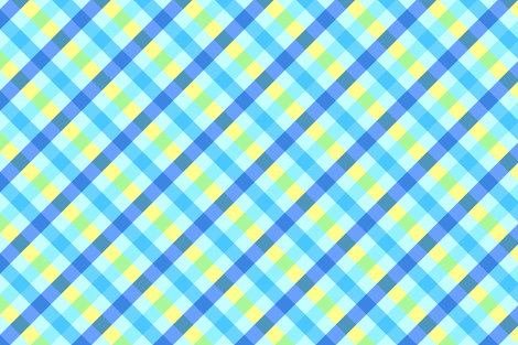 Futuring Blue Gingham fabric by sparklepipsi on Spoonflower - custom fabric