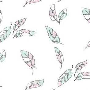 Feathers pastel - BlueMoon Design