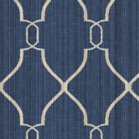Laura Trellis in Indigo fabric by willowlanetextiles on Spoonflower - custom fabric