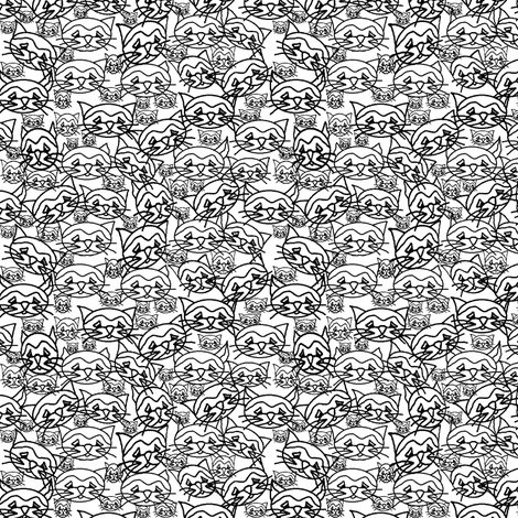 Cats! Lots of Cats!  fabric by squeakyangel on Spoonflower - custom fabric