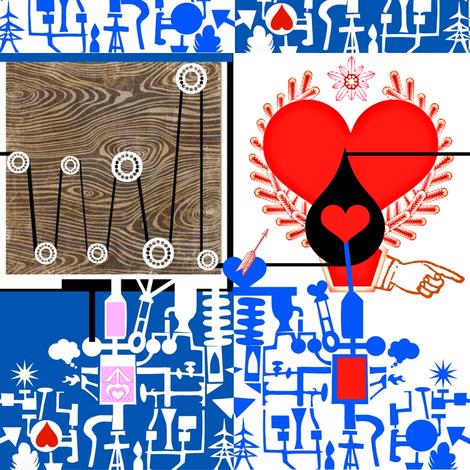 Love Machine fabric by boris_thumbkin on Spoonflower - custom fabric