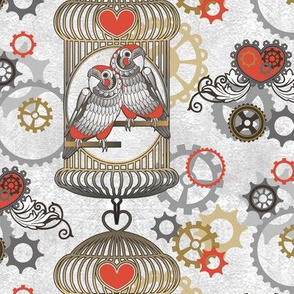 steampunk love birds