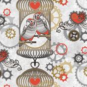 steampunk love birds