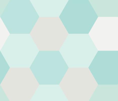 hexagon fabric by seekatesewfabric on Spoonflower - custom fabric