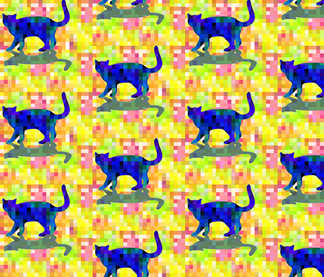 cubist_cat_Silhouette and Shadow fabric by mammajamma on Spoonflower - custom fabric