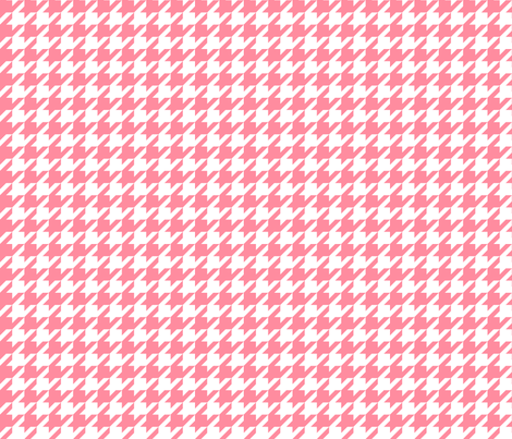 houndstooth pretty pink fabric by misstiina on Spoonflower - custom fabric