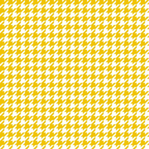houndstooth mustard yellow