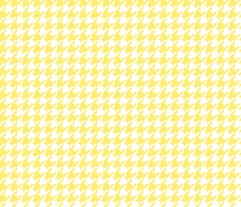 houndstooth lemon yellow fabric by misstiina on Spoonflower - custom fabric