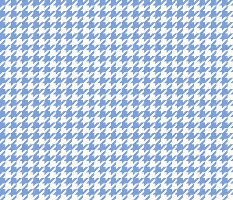 houndstooth cornflower blue fabric by misstiina on Spoonflower - custom fabric