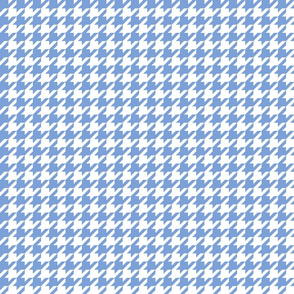 houndstooth cornflower blue