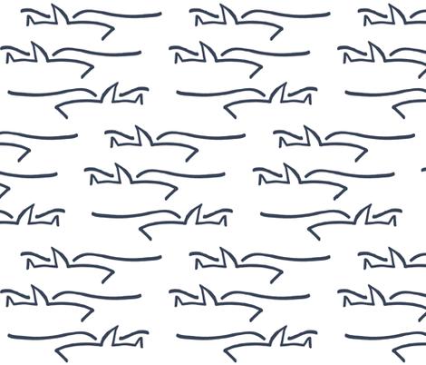 sharks_by_mom fabric by kristenbarstad on Spoonflower - custom fabric