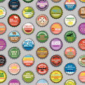Soda Nation* (Silkscreen) || bottlecap bottle cap national park America United States nps polka dots typography cola travel summer food drink vacation