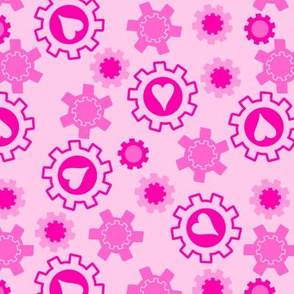 Pink Hearts & Cogs