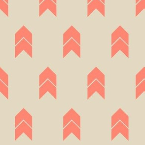 Tan and salmon chevron