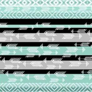 Arrows in Ethnic mint