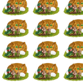 Leprechaun_Hides_from_Kitten_behind_Mushrooms_-_Spoonflower