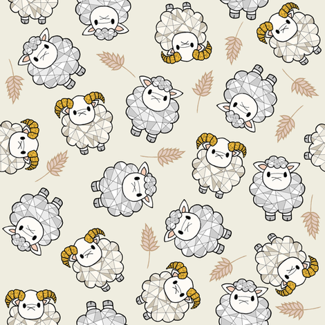 Sheeps fabric by sylviaoh on Spoonflower - custom fabric