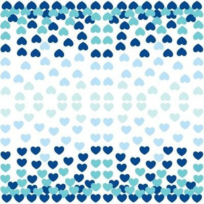 Hearts Tile-blue Small