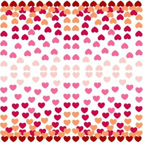 Heart Tiles - pink Small
