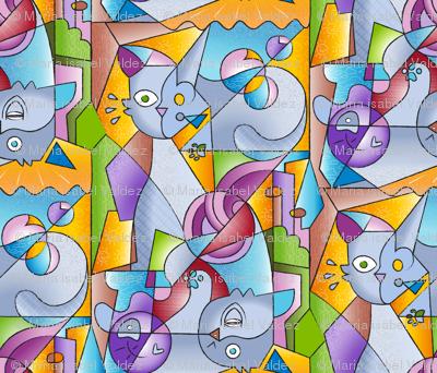Cubist Cats: The Mininos