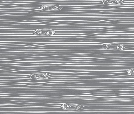 Woodgrain grey fabric by littlearrowdesign on Spoonflower - custom fabric
