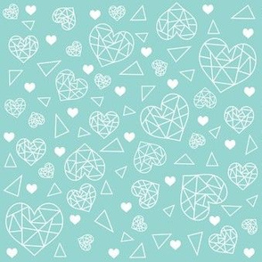 Geometric Heart Pattern