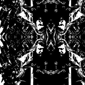 Ned Stark Iron Throne Black and White Damask Style