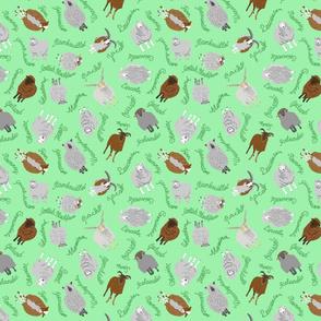Ewe-nique Wool Sheep - green