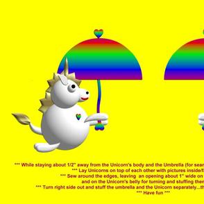 Cute Unicorn with an Umbrella