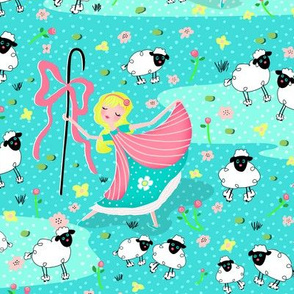 Bo Peep and Sheep