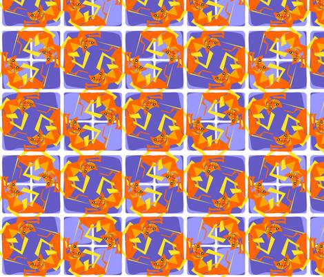 Cubist Cats go  Mreeeow! fabric by moirarae on Spoonflower - custom fabric