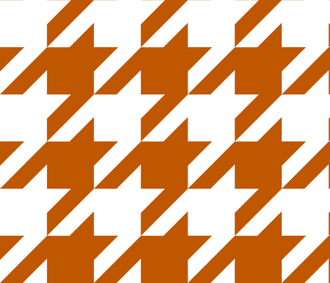 Spiced Pumpkin  and White ~ The Houndstooth Check  fabric by peacoquettedesigns on Spoonflower - custom fabric