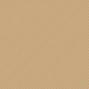 Spiced Pumpkin and White ~ Diagonal Stripe