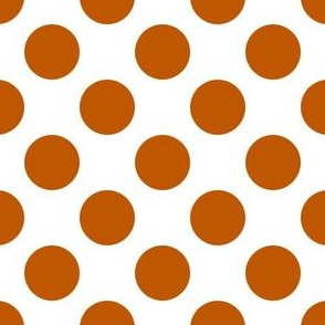 Spiced Pumpkin and White ~ Polkadot