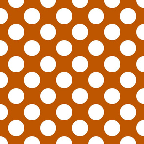 Spiced Pumpkin and White ~ Polkadot Reverse