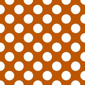 Spiced Pumpkin and White ~ Polkadot Reverse