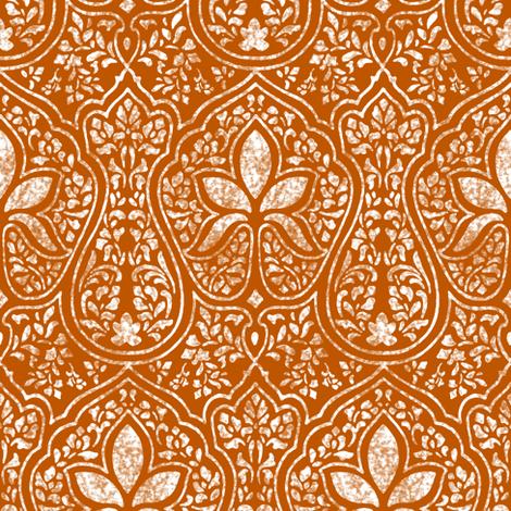 Spiced Pumpkin and White ~ Rajkumari Batik Reverse   fabric by peacoquettedesigns on Spoonflower - custom fabric