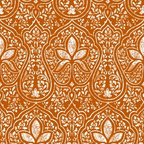 Spiced Pumpkin and White ~ Rajkumari Batik Reverse