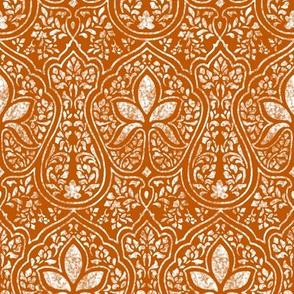 Spiced Pumpkin and White ~ Rajkumari Batik Reverse