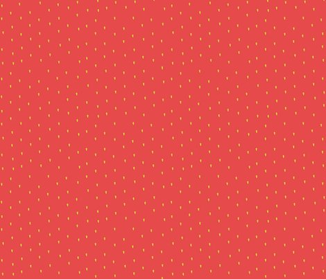 Strawberry seeds fabric a quiet sunday morning spoonflower for Papel pintado topos