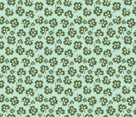 Lucky Shamrocks fabric by bags29 on Spoonflower - custom fabric