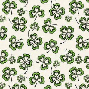 Lucky Shamrocks Irish Linen