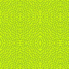 lime green stylized florals