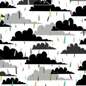 rain(bow) clouds (white background)
