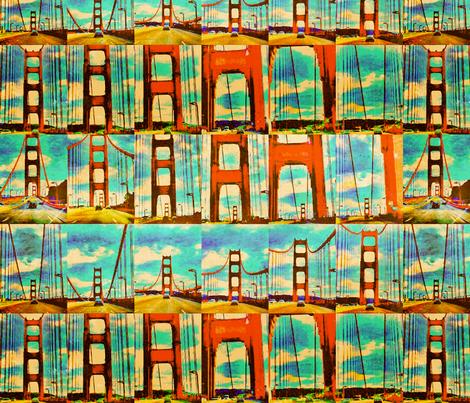 The Golden Gate fabric by lisathorpe on Spoonflower - custom fabric