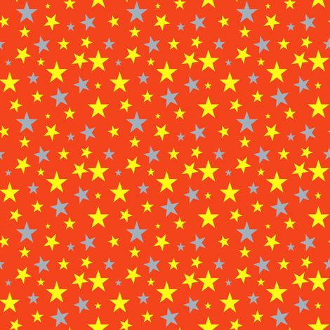 Shoot for the Stars Red fabric by arwenartanddesign on Spoonflower - custom fabric