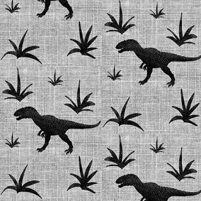 T-rex on linen